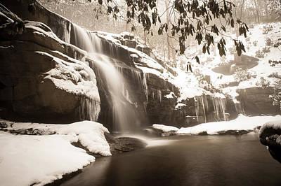 Photograph - Winter Waterland-sepia by Joye Ardyn Durham