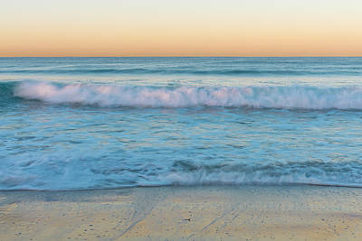 Turquoise Photograph - Winter Waves 1 by Priya Ghose