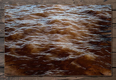Photograph - Winter Waves 2 by WB Johnston