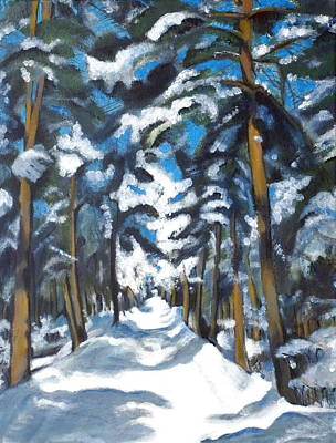 Painting - Winter Way by Vera Lysenko