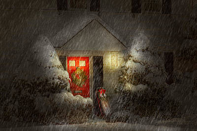 Xmas Photograph - Winter - Westfield Nj - T'was The Night Before Christmas  by Mike Savad