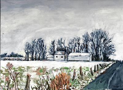 Winter Roads Drawing - Winter Whisper by Patty Fleckenstein