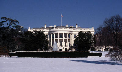 Winter White House  Art Print