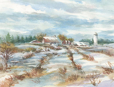 Painting - Winter Whites by Kerry Kupferschmidt