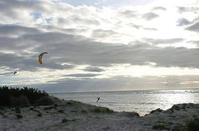 Photograph - Winter Wind Surfing by Maria  Disley