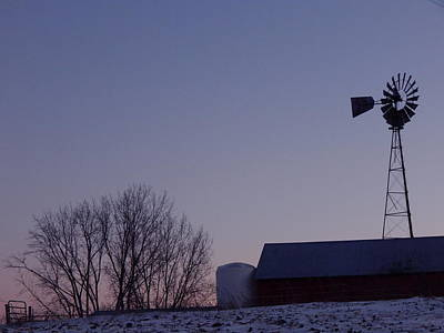 Photograph - Winter Windmill by Wild Thing
