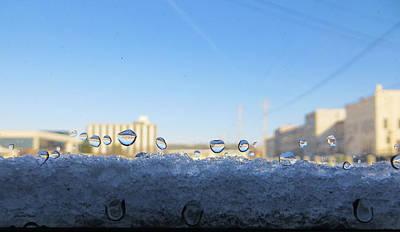 Photograph - Winter Windowsill by Shawna Rowe