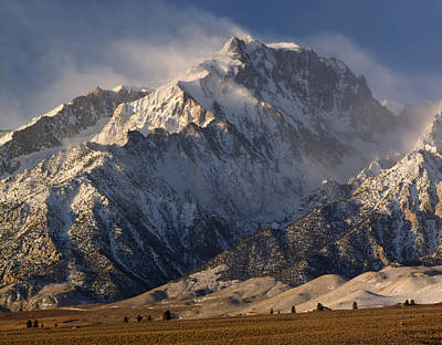 Mt. Massive Photograph - 2m6474-winter Winds Over Mt. Williamson  by Ed  Cooper Photography