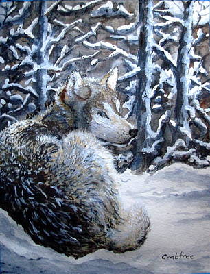 Painting - Winter Wolf by Elizabeth Crabtree
