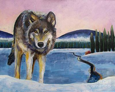 Winter Wolf Art Print by Harriet Peck Taylor