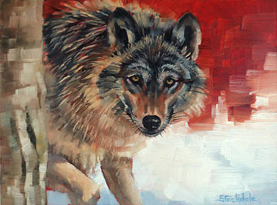 Painting - Winter Wolf by Margaret Stockdale