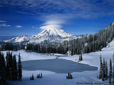 Audrey Hepburn - Winter Wonder Mountain by Bruce Nutting