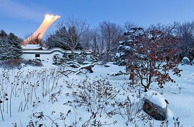 Montreal Winter Scenes Photograph - Winter Wonderland At Montreal Botanical Garden by David Giral