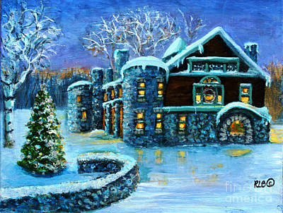 Waltham Painting - Winter Wonderland At The Paine Estate by Rita Brown