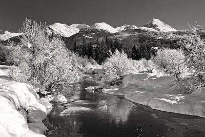 Photograph - Winter Wonderland Black And White by Pierre Leclerc Photography