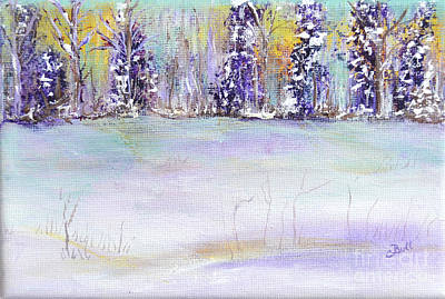 Original featuring the painting Winter Wonderland by Claire Bull