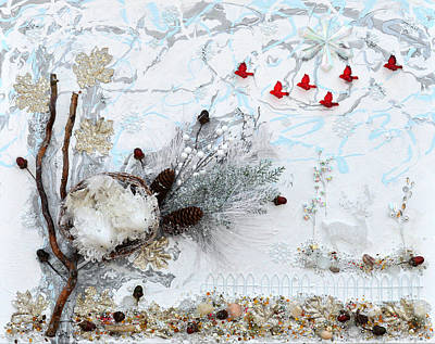 Turtle Mixed Media - Winter Wonderland by Donna Blackhall