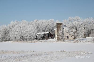 Photograph - Winter Wonderland Farm by Robyn Saunders