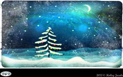 Digital Art - Winter Wonderland by Holley Jacobs