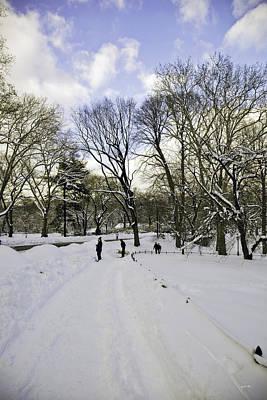 Winter Wonderland In Central Park - New York Print by Madeline Ellis