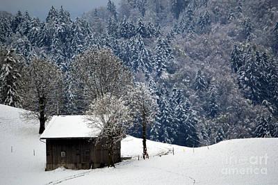 Winter Wonderland In Switzerland Art Print