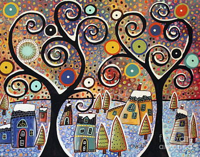Snow Scene Painting - Winter Wonderland by Karla Gerard