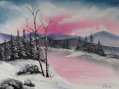 Bob Ross Painting - Winter Wonderland by Kevin  Brown