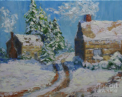 Painting - Winter Wonderland by Linda Riesenberg Fisler