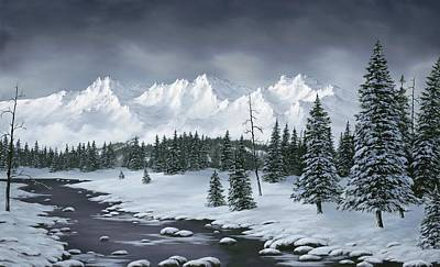 Winter Trees Painting - Winter Wonderland by Rick Bainbridge