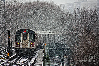Train Tracks Photograph - Winter Wonderland Vs Winter Woes by Nishanth Gopinathan