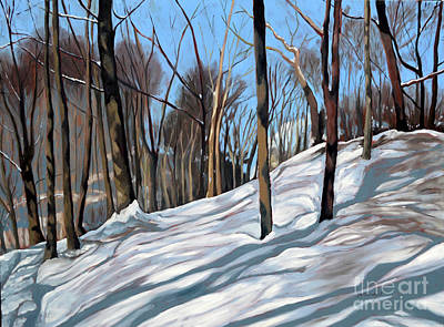 Painting - Winter Woods by Joan McGivney