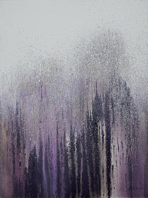 Plum Mixed Media - Winter Woods by Roberto Gonzalez