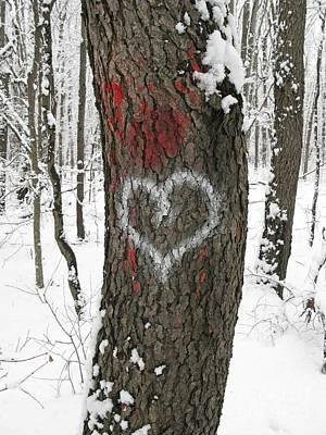 Winter Woods Romance Print by Ann Horn