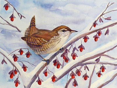 Painting - Winter Wren by Janet Zeh