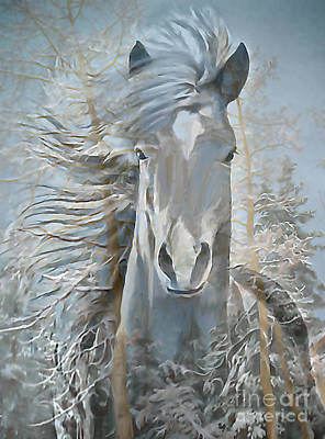 Painting - Winter Yearling by Ursula Freer