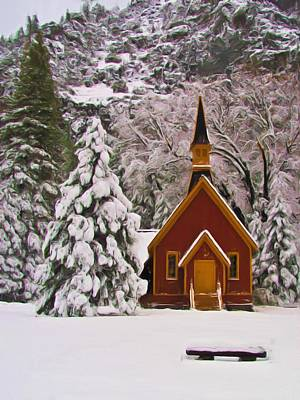 Photograph - Winter Yosemite Chapel by Heidi Smith