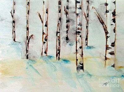 Winterbirch Art Print