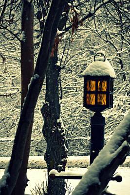 Old Time Feel Photograph - Wintered Lantern by Cyryn Fyrcyd