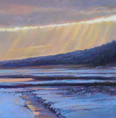 Winter's Dawn Art Print by Ed Chesnovitch