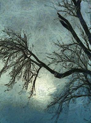 Snow Storm Painting - Winter's Embrace by Dan Sproul