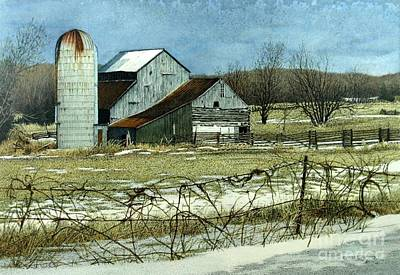 Painting - Winters End Prince Edward County by Robert Hinves