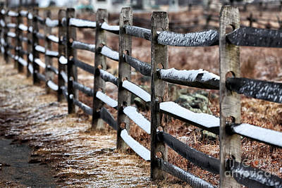 Photograph - Winter's Fence by John Rizzuto
