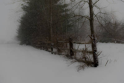 Wall Art - Photograph - Winter's Fence by Scott Hafer