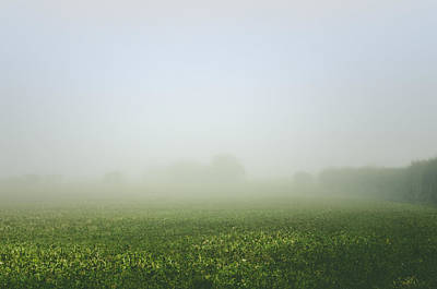 Photograph - Winters Foggy Morning Across The Farmers Field by Spikey Mouse Photography