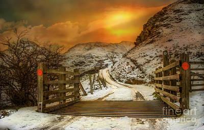 Grid Digital Art - Winters Gate by Adrian Evans