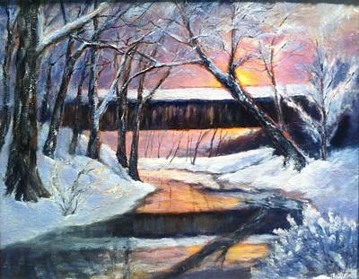 Painting - Winter's Glow by Gail Kirtz