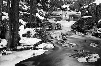 Snowy Brook Photograph - Winter's Grace by Luke Moore
