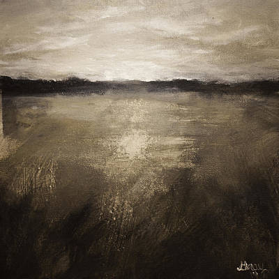 Painting - 'winters Grip' Abstract Marshland Landscape Original Painting On Canvas  by Gray  Artus