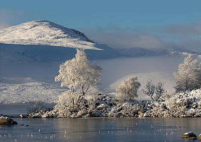 Rannoch Moor Digital Art - Winter's Icy Grip by Pat Speirs
