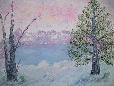 Snowscape Painting - Winters Jewels by Nancy Craig